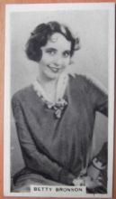 Betty Bronson, Cigarette Card, Godfrey Phillips, Cinema Stars, 1930 card #10